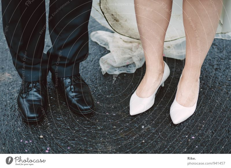 Human being Woman Man White Black Adults Life Love Emotions Feminine Feasts & Celebrations Legs Feet Couple Together Masculine