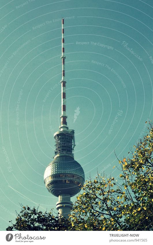 Blue City Green White Red Metal Elegant Glass Large Esthetic Concrete Future Telecommunications Tower Sign Thin