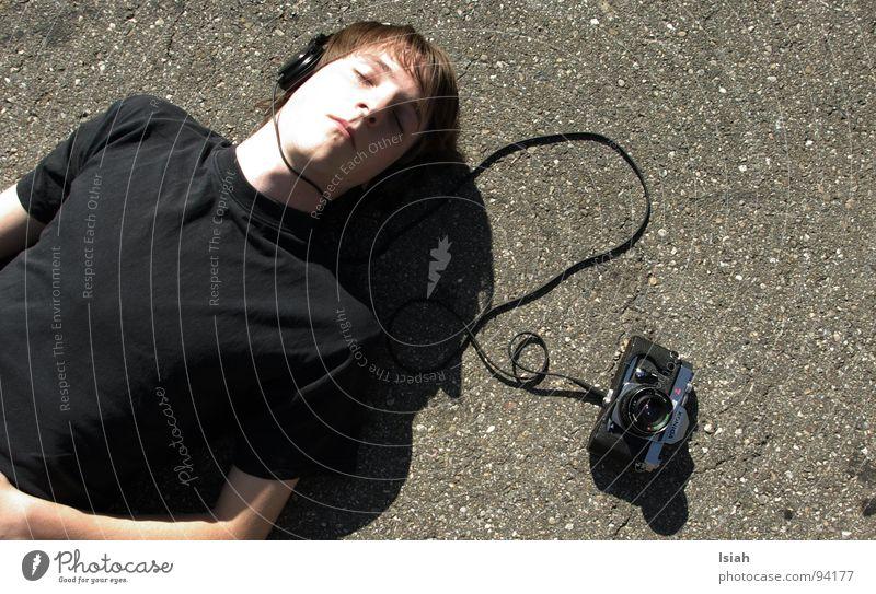 Asphalt Camera Listening Boredom