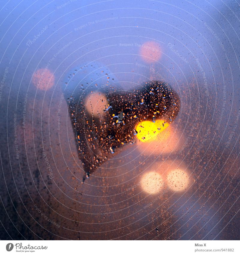 Water Window Emotions Love Moody Rain Fog Illuminate Drops of water Heart Romance Sign Infatuation Downtown Lovesickness Bad weather