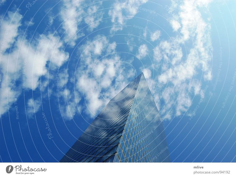 Sky Blue White City Clouds House (Residential Structure) Window Freedom Building Facade Tall High-rise Perspective USA New York City