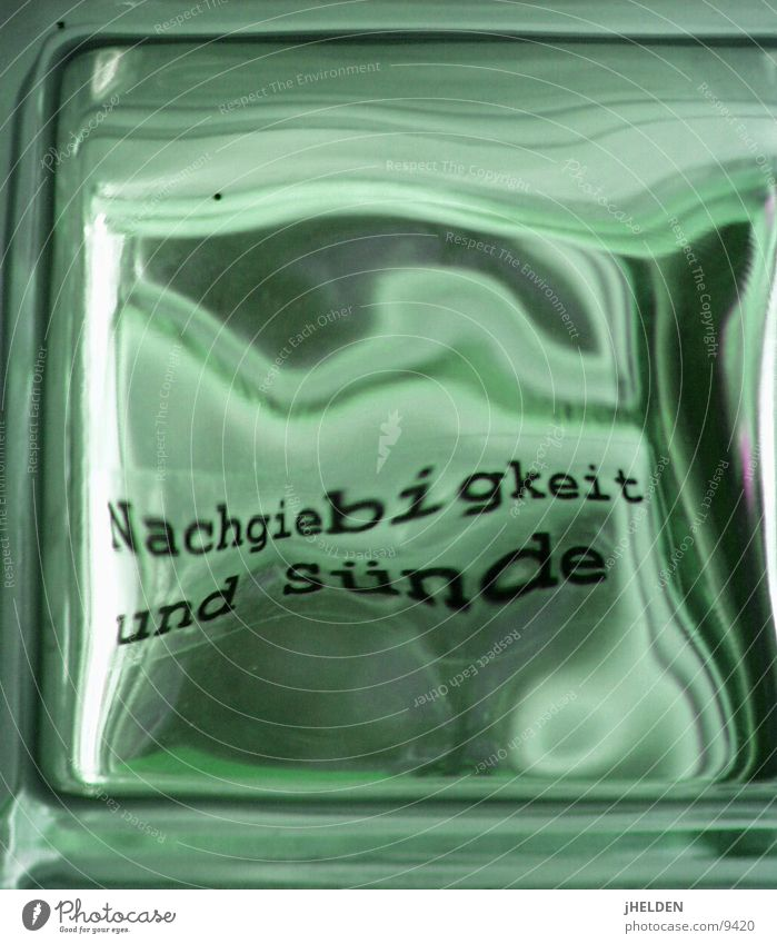 Berlin Glass Characters Gastronomy Toilet Typography Distorted Glass block Emotion design Verse