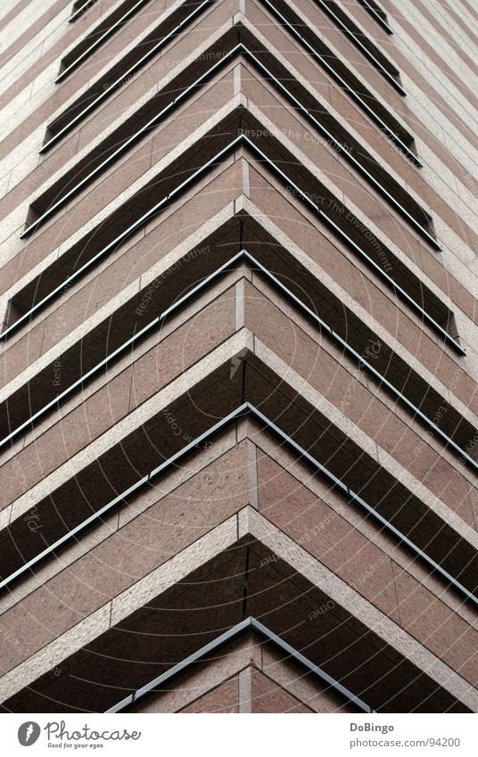 Red House (Residential Structure) Stone Line Modern Corner Arrow Middle Upward Indicate Flat Marble Office building Granite