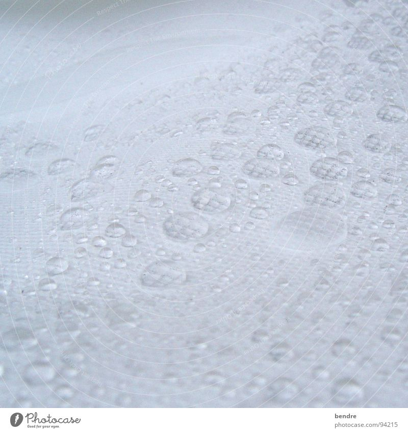 its raining... Wet Nonwoven fabric Cloth White Water Rain Drops of water padded fleece
