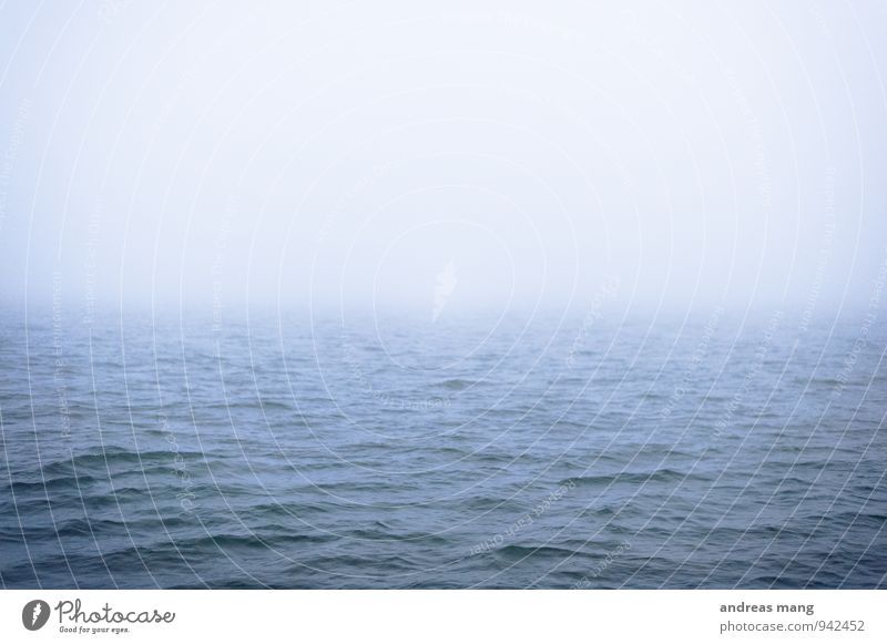 Blue Water Ocean Loneliness Calm Far-off places Movement Horizon Fear Fog Gloomy Waves Dangerous Wet Adventure Infinity