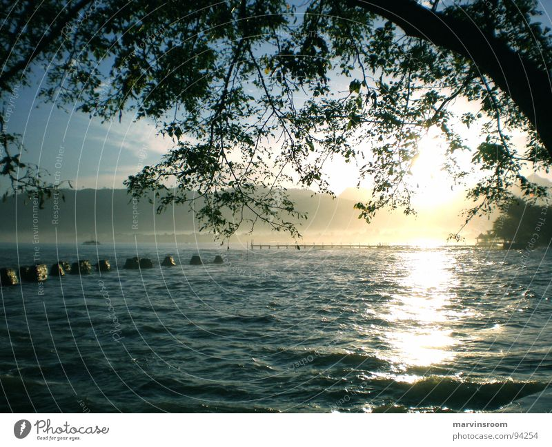 morning glory Beach Lake Ocean Sunlight Coast Asia sea sunrise Morning landscape