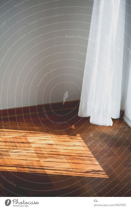 curtain Living or residing Flat (apartment) Decoration Room Living room Drape Parquet floor Window Wall (building) Wall (barrier) Shaft of light Cloth Bright