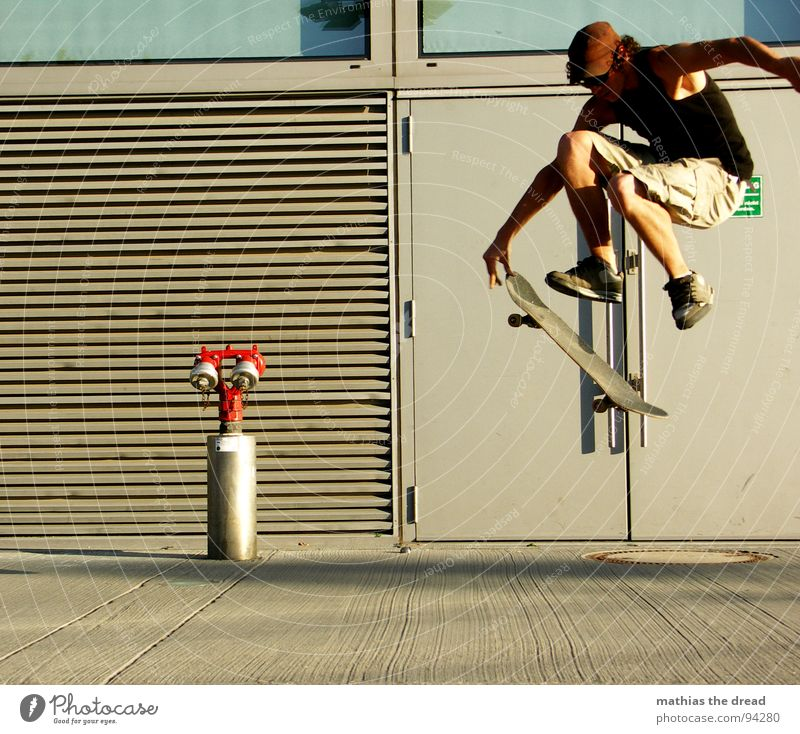 Man Red Joy Sports Wall (building) Jump Playing Movement Power Healthy Flying Concrete Free Force Action Aviation