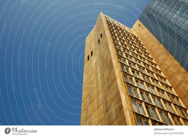 bling Town Publishing house Kreuzberg High-rise Window Sky Building Modern Berlin capital listen axelspringer Skyline Gold cityscape Blue Box golden cage