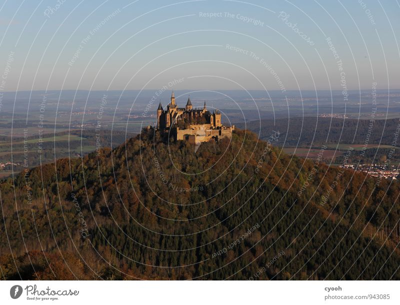 Hohenzollern Castle Old Famousness Free Historic Blue Brown Safety Protection Safety (feeling of) Adventure Eternity Freedom Culture Luxury Might Pride Past