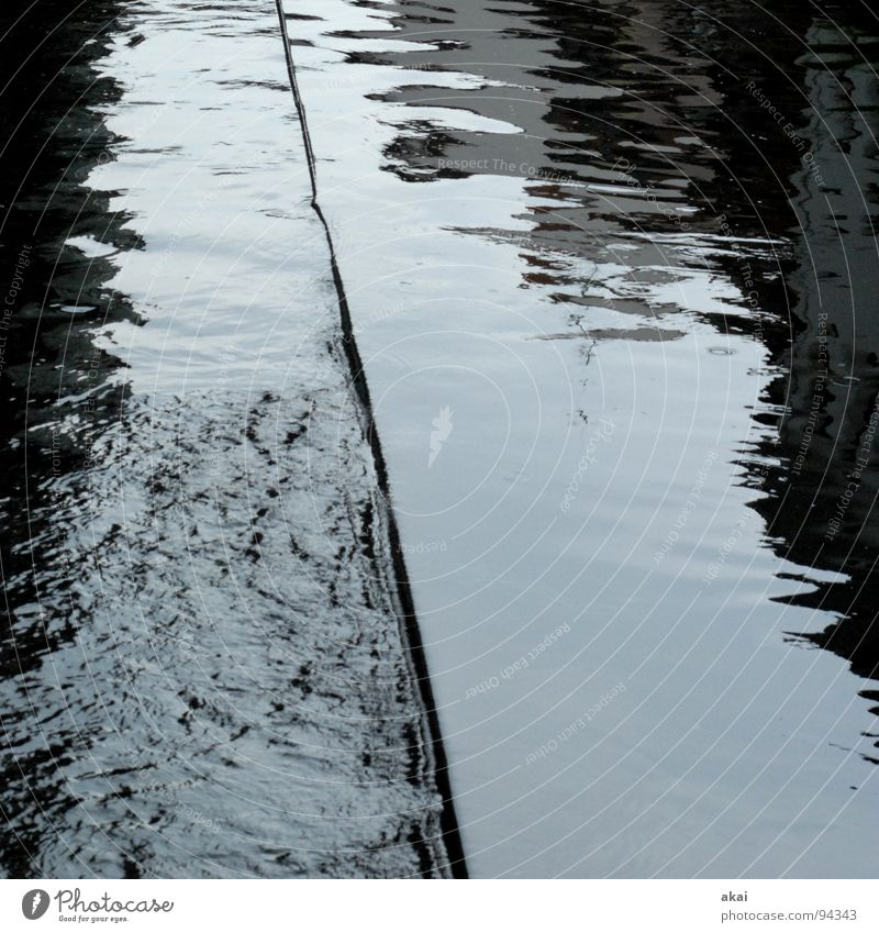 Freiburg Perspectives 3 Gray Reflection Wet River Brook Water Sewer Weir Barrage Surface of water Water reflection
