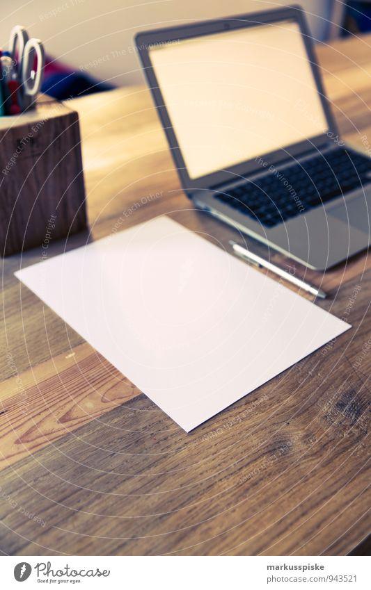 Office Paper Retro Hip & trendy Desk Notebook Vintage Piece of paper Blank Designer