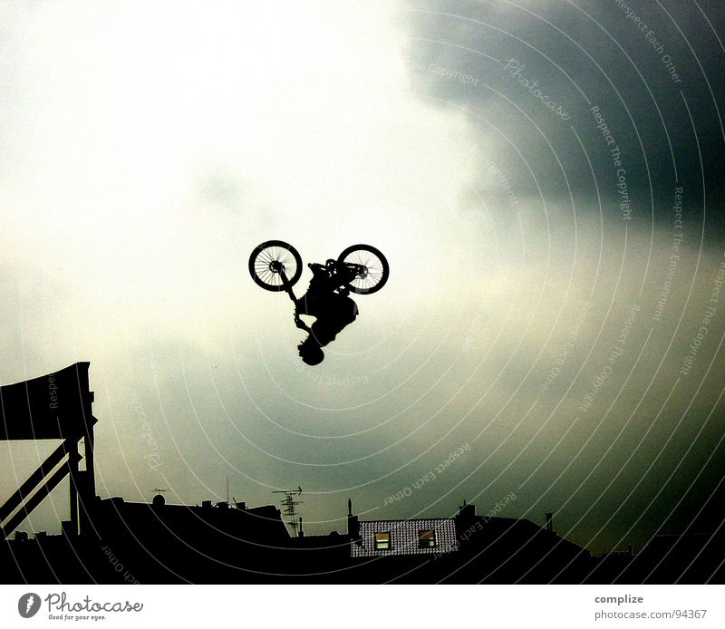 Sky Man Adults Sports Art Flying Fear Power Bicycle Aviation Crazy Speed Beginning Shows Cycling Driving