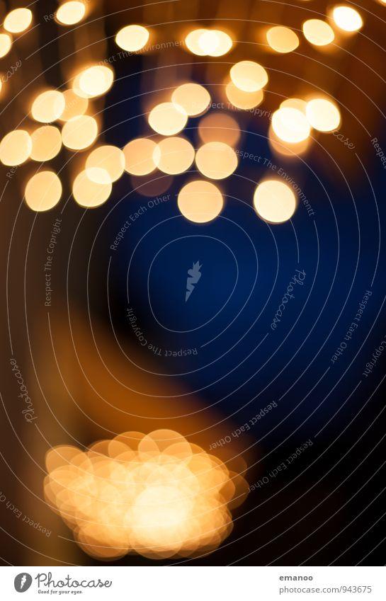 Sky Blue Christmas & Advent Dark Yellow Warmth Emotions Movement Feasts & Celebrations Flying Lamp Art Bright Illuminate Gold