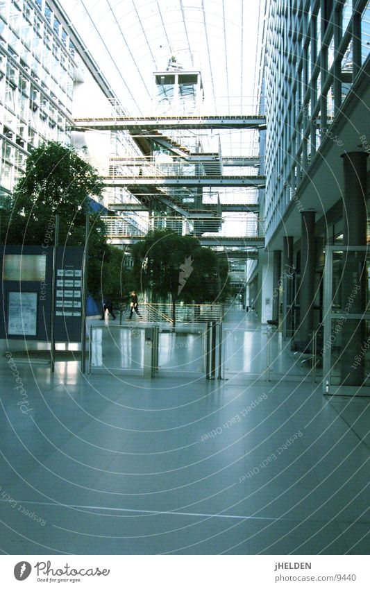 Plant Window Architecture Building Stairs Modern Store premises Leipzig Trade fair Exhibition Saxony World exposition Glass dome