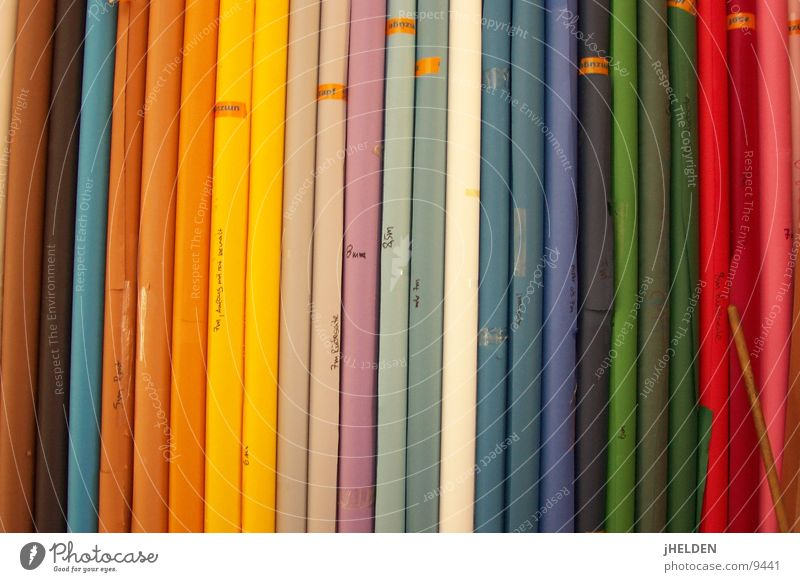 Blue Green Red Colour Yellow Brown Background picture Perspective Illuminate Paper Decoration Creativity Vertical Striped Copy Space Coil