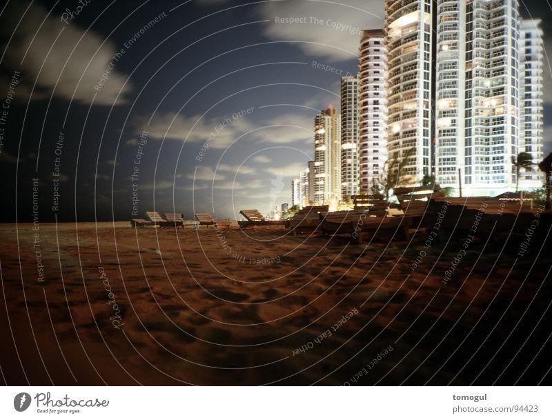 Beach Vacation & Travel House (Residential Structure) Coast High-rise Modern Living or residing Dusk Deckchair Florida Miami