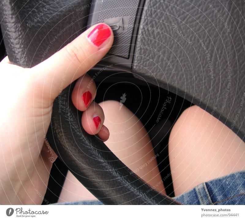 Woman Hand Red Summer Warmth Style Car Legs Room Skin Transport Fingers Dangerous Perspective Threat Retro