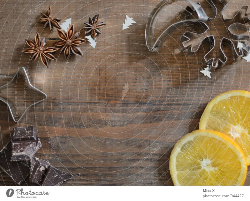 Christmas frame Food Fruit Orange Herbs and spices Nutrition Decoration Christmas & Advent Fragrance Delicious Sweet Stagnating Orange slice Ingredients