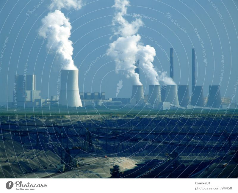 nature reserve Dirty Brown Black Lignite Raw materials and fuels Environmental pollution Grief Destruction Smoke Poison Harmful Electricity Swine Broken Air