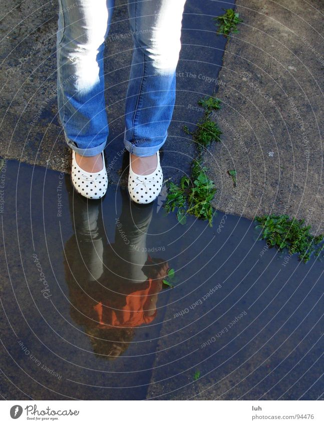 Youth (Young adults) Water Summer Footwear Point Puddle Spotted Ballerina