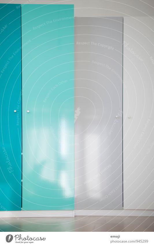 unique specimen Cupboard Wardrobe door Cupboard handle Packing film Interior design Self-made Home improvement Gray Turquoise White Colour photo Multicoloured