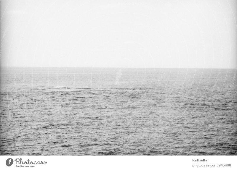 grey Elements Water Sky Cloudless sky Horizon Beautiful weather Ocean Movement Calm Gran Canaria Las Palmas de Gran Canaria Atlantic Ocean Analog