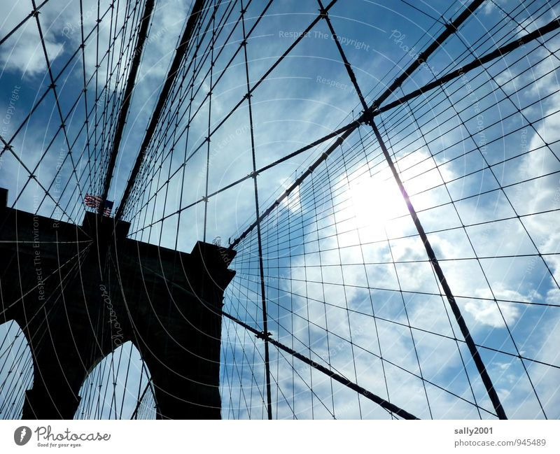 Architecture Exceptional Arrangement Power Rope Bridge Uniqueness Culture Safety Network To hold on USA Manmade structures Traffic infrastructure Connection
