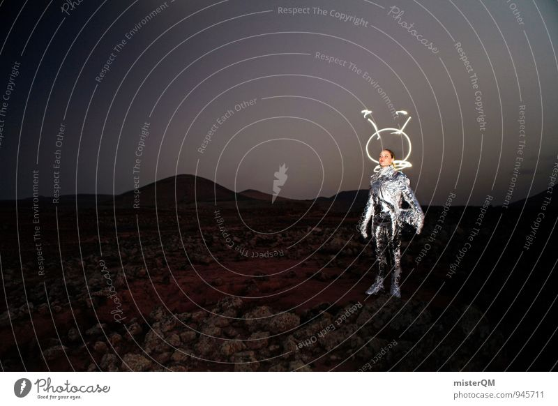 Lil' Gazoo Art Work of art Esthetic Extraterrestrial being Moon Lunar landscape Mars Martian landscape Helmet Creativity Woman Evolution Space suit Carnival