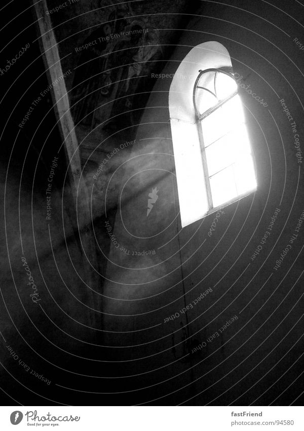halo Window Light Holy Arch Black White Religion and faith Deities House of worship Black & white photo Art Culture Bright Beam of light Glass