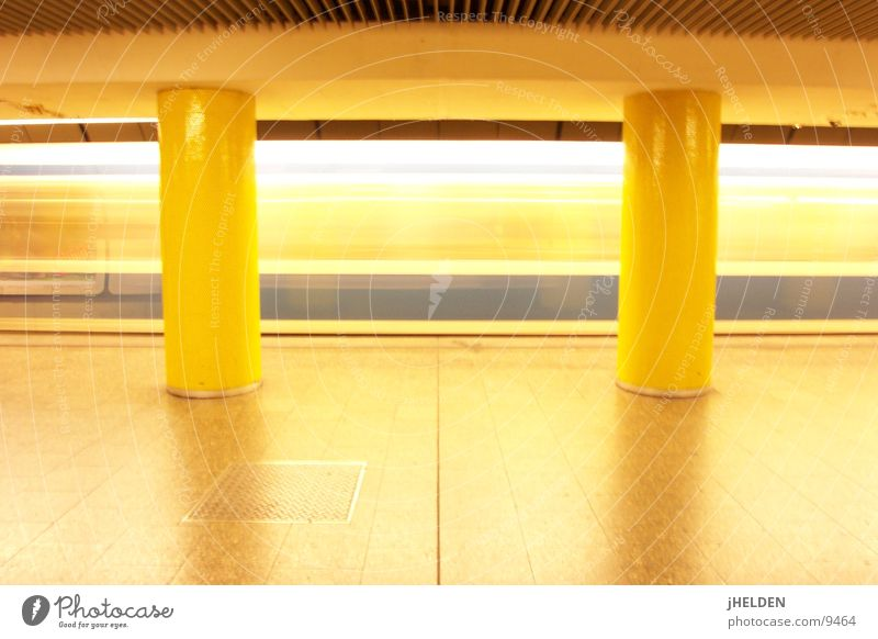 Yellow Open Munich Underground Train station London Underground Means of transport Underground England Emotion design