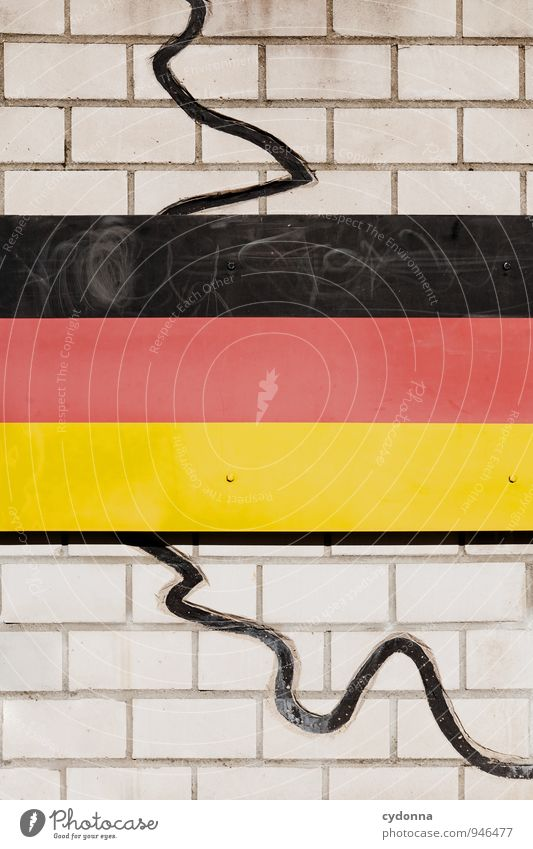 Wall (building) Lanes & trails Wall (barrier) Freedom Time Germany Future Change Might Protection German Flag Education Peace Past Attachment