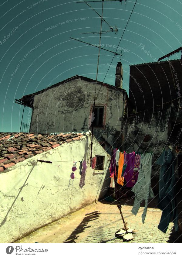 cityscapes Portugal Decline Vacation & Travel Tourism Discover Foreign Antenna Laundry Clothing Clothesline Alley House (Residential Structure) Roof Town Summer