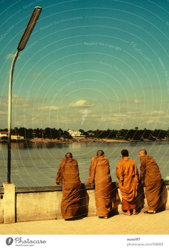 Religion and faith Power Orange Force Asia Thailand Buddha Myanmar Monk Clergyman Buddhism Laos Mekong