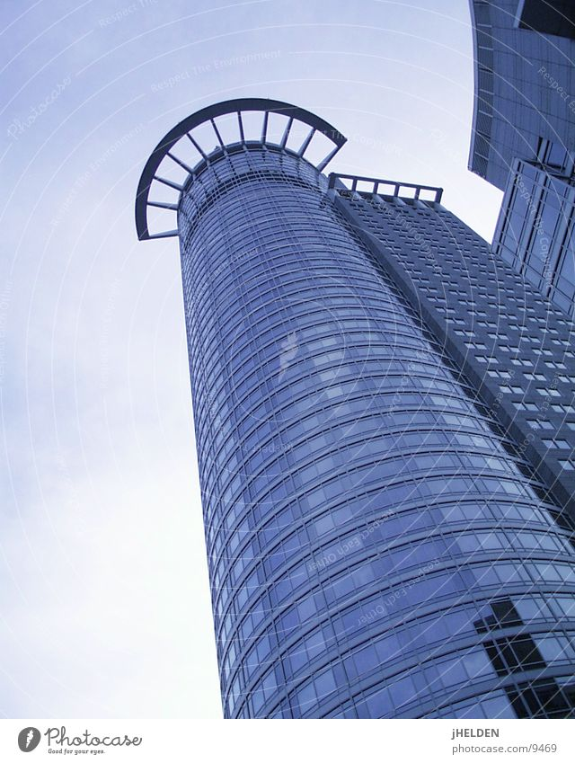 Blue City Style Glass Concrete Modern High-rise Steel Frankfurt Main Insurance Emotion design