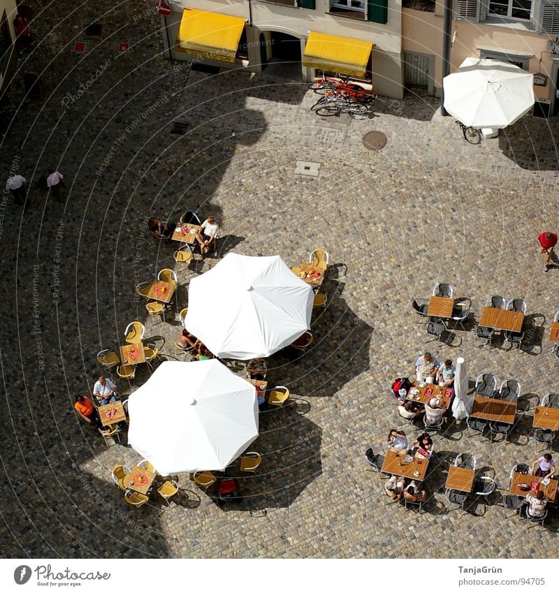 Human being White City Summer Joy Yellow To talk Above Places Sit Tall Multiple Table Chair To go for a walk Many