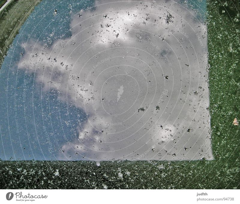 Water Sky White Green Blue Summer House (Residential Structure) Clouds Rain Dirty Circle Roof Mirror Blow France Puddle