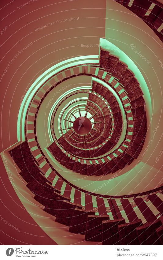 I want you to turn around. Architecture Stairs Rotate Staircase (Hallway) Banister Upward Downward Winding staircase Round Abstract