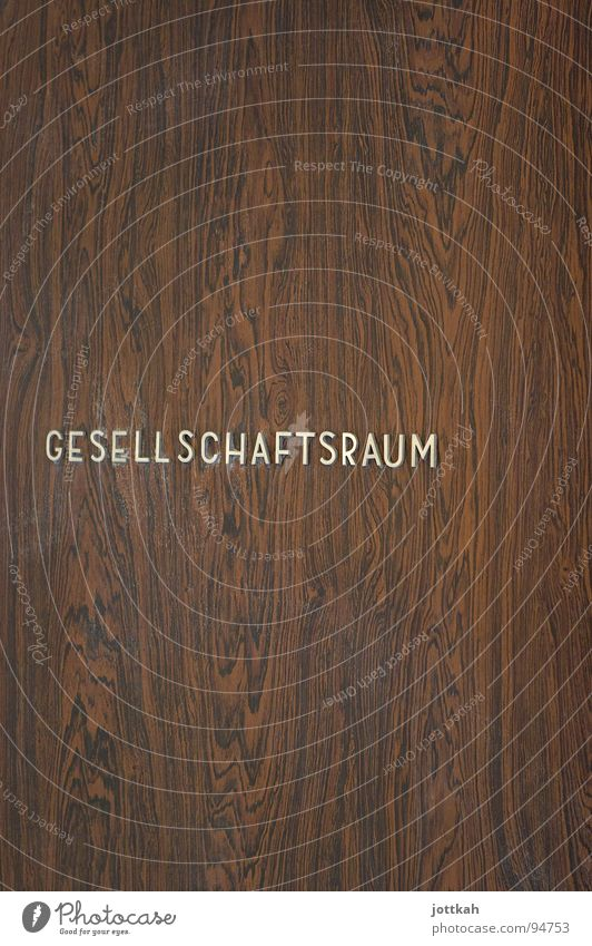 Wood Brown Room Door Arrangement Characters Letters (alphabet) Entrance Society Typography Material Wood grain Lettering