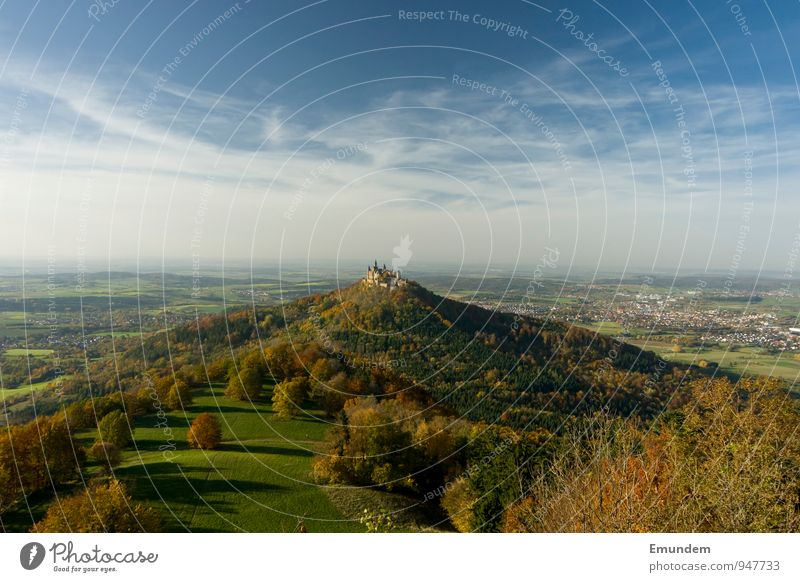 Hohenzollern III Vacation & Travel Tourism Trip Sightseeing Germany Europe Castle Castle Hohenzollern Hiking Old Large Swabian Jura Panorama (View)