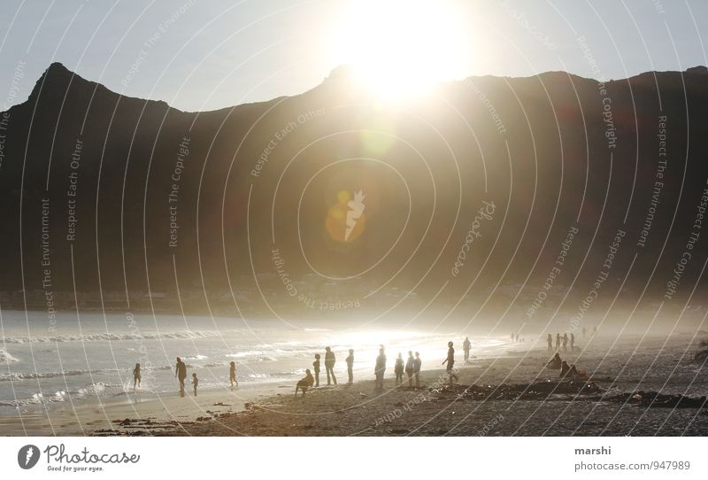 Hout Bay Lifestyle Leisure and hobbies Sports Aquatics Human being Crowd of people Nature Landscape Sunrise Sunset Sunlight Summer Coast Beach Emotions Moody