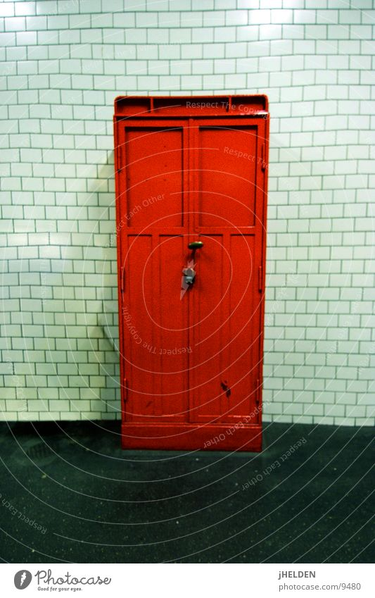Old White Red Door Blaze Industry Tile Underground Box Loudspeaker Train station Flow Underground London Underground Emergency Public transit
