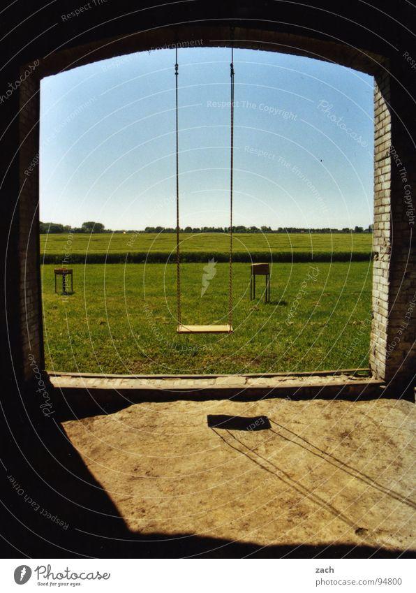Sky Joy Loneliness Meadow Playing Window Grass Field Door Horizon Empty Lawn Vantage point Farm Toys Infancy