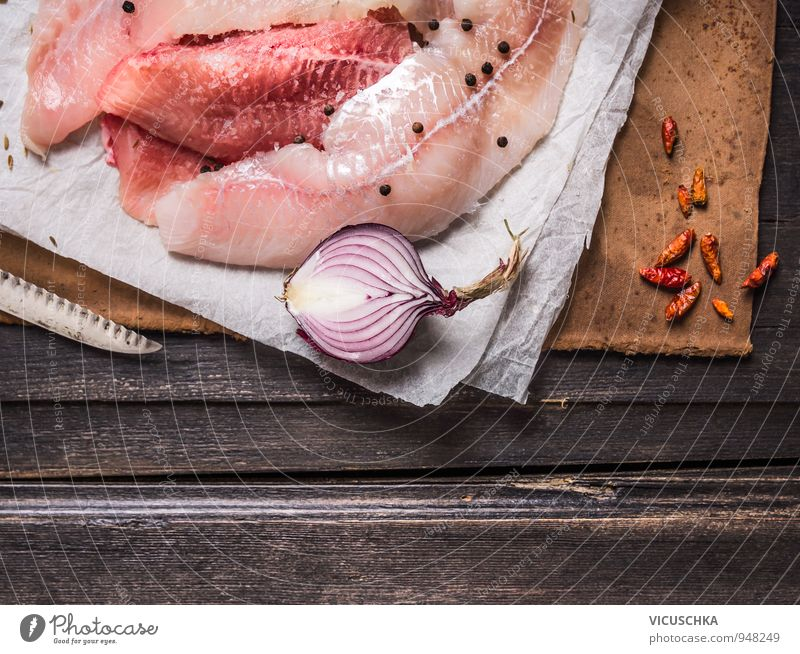 Nature Style Wood Background picture Above Brown Food Pink Perspective Nutrition Table Paper Cooking & Baking Fish Kitchen Herbs and spices
