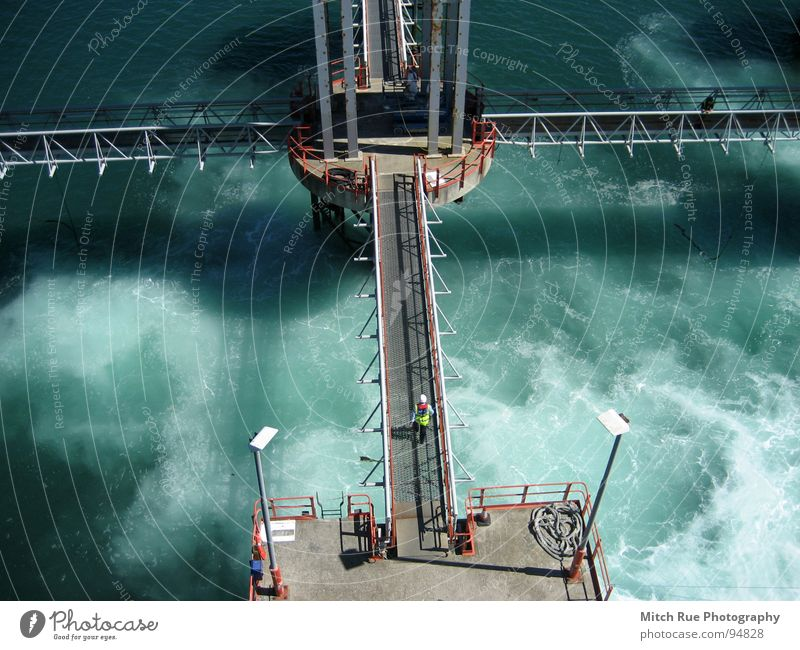 Foaming water Ocean Whirlpool Ferry Green Waves Radiation Bubbling Employees & Colleagues Wind Watercraft Smoothness Snapshot Abstract Colour Architecture