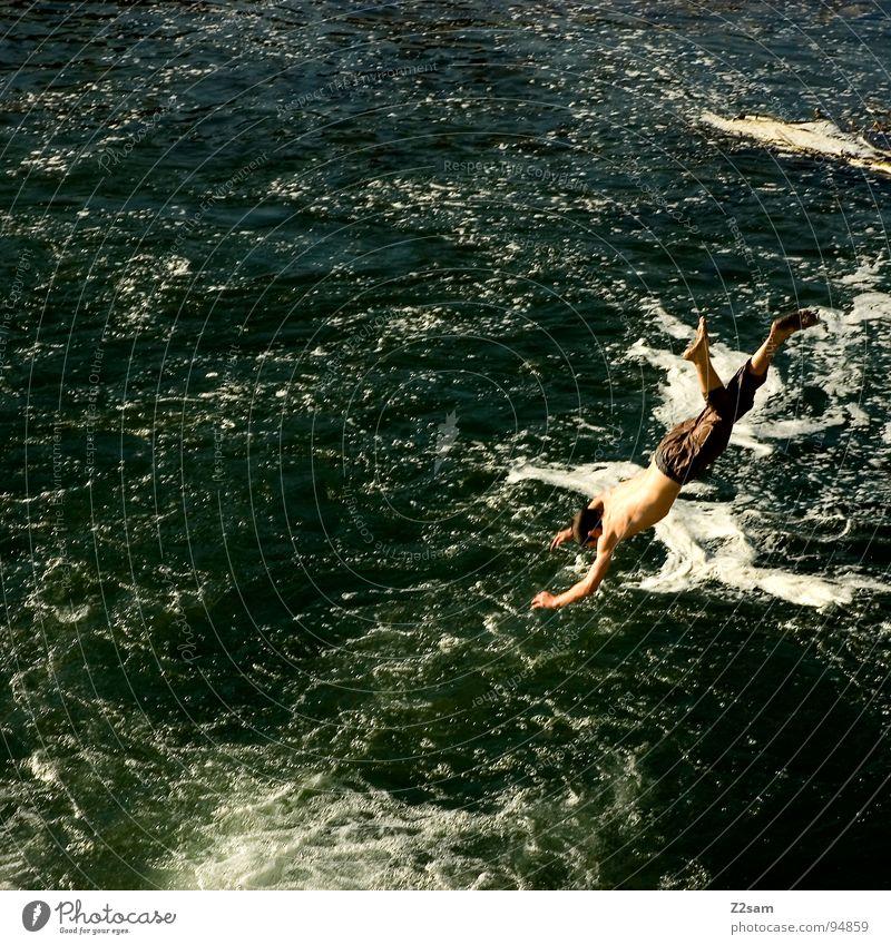 Water Blue Summer Jump Above Movement 2 Together River Level Munich Dynamics Bavaria Stride Aquatics