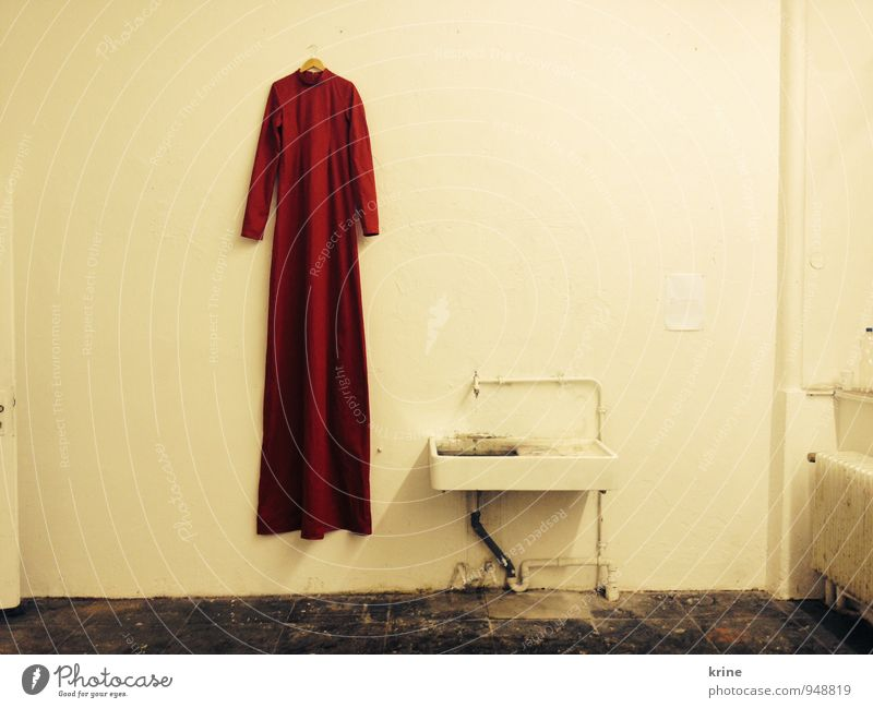 garb Fashion Dress Cloth Illuminate Esthetic Exceptional Elegant Exotic Fantastic Long Red Caution Serene Calm Wisdom Belief Humble Uniqueness Emphasis Sink Art