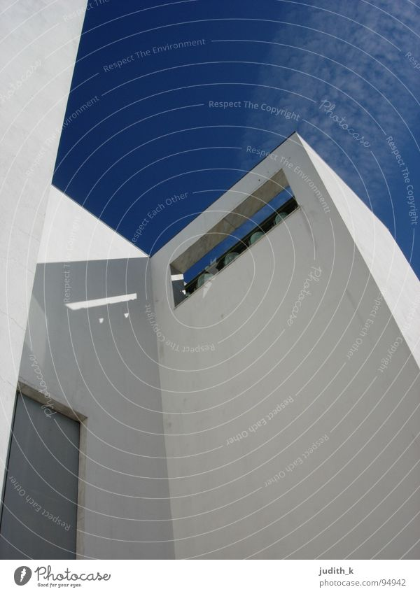 siza Portugal White Calm Worm's-eye view Bell Building Architecture House of worship Trust Religion and faith alvaro siza Protection Blue Sky Door Shadow