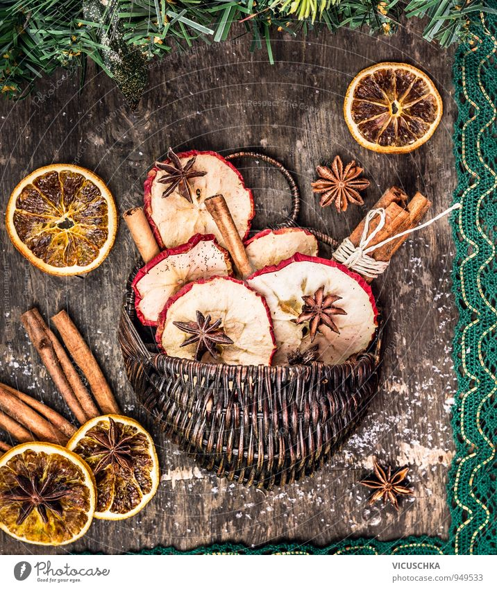 Nature Christmas & Advent Winter Car Window Style Food Leisure and hobbies Fruit Design Orange Nutrition Beverage Dry Herbs and spices Apple Tradition