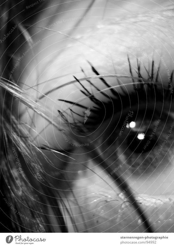 Water Eyes Fear Wet Mirror Longing Doll Self portrait Piercing Eyelash Black-haired Face of a woman Lip piercing